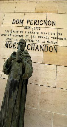 Dom Perignon 1638-1715 ~ French monk who made important contributions to the making of champange.  Merci beaucoup!