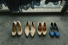 Design the perfect shoe for both the bride and the bridesmaids at shoesofprey.com. Photo by Across the Forest Photography.