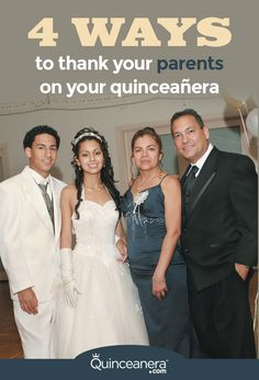 "They've been there for you through ups and downs. They're your #1 fans, plus they took the time (and money) to celebrate a super important moment in your life.  This is the time to say: ""Thank You Mom & Dad!"" but how?  - See more at: http://www.quinceanera.com/planning/4-ways-thank-parents-quinceanera/?utm_source=pinterest&utm_medium=social&utm_campaign=planning-4-ways-thank-parents-quinceanera#sthash.5XXxNeEd.dpuf"