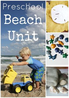 Want your kids to have an educational soaked time at the beach? Can't make it to the beach this year? These activities will have your child learning and playing with summertime glee! Preschool Beach Unit