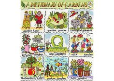 Dictionary of Gardens Cross Stitch Kit £28.25   Past Impressions   Bothy Threads
