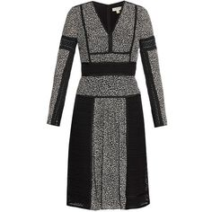 MATCHESFASHION.COM ($1,522) ❤ liked on Polyvore featuring black white, cocktail party dress, black and white polka dot dress, party dresses, long dresses and polka dot dress