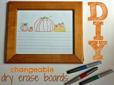 Make writing practice fun with this Halloween inspired changeable dry erase board!
