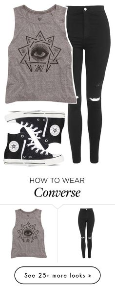 """Untitled #541"" by iiscool on Polyvore featuring Topshop, Billabong and Converse"
