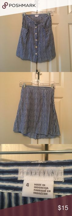Blue and white striped skirt Skirt with pockets and belt loops from urban outfitters Cooperative Skirts Mini