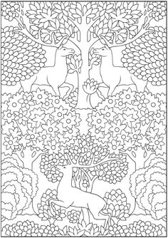 Creative Haven Art Nouveau Animal Designs Coloring Book Welcome to Dover Publications