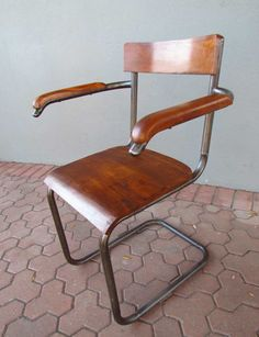 iron and wood chair