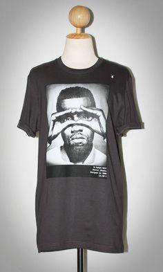 Kenye West Finger Mask Hip Hop Charcoal Black Unisex Women Indie Punk Rock T-Shirt Size L-XL