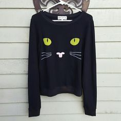"""{Wildfox} Halloween Cat baggy beach jumper. Fun and frisky 