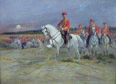 Tsarevich Pintura - revista a las tropas de Jean Baptiste Edouard Detaille