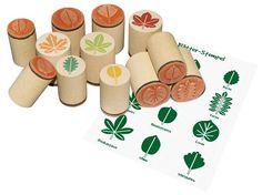 Holzstempel Blätter, Holzstempel Laubblätter, Blätterstempel 12er Set, Stempel…