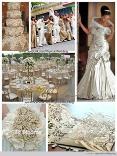 Nigerian Wedding Colors | nigerian wedding champagne and cream wedding color scheme 6