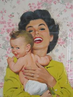 .vintage mother & child.       t