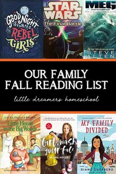 Our favorite books this fall! #girlwashyourface #myfamilydivided #goodnightstoriesforrebelgirls #themeg