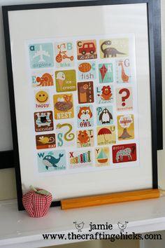 ABC poster art using Digi Scrap supplies from Sweet Shoppe Designs