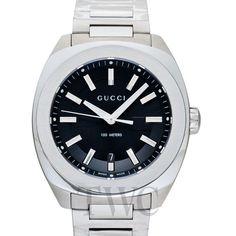 Gucci GG2570 XL Black Sun Brushed Dial Men's Watch Gucci Watches For Men, Rolex Watches, Tokyo Shopping, Watch Companies, Bracelet Watch, Sun, Accessories, Black, Black People