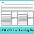 Use this 2 page sheet to help your students plan an Informational piece of nonfiction writing. Students will also plan an opening and closing parag...