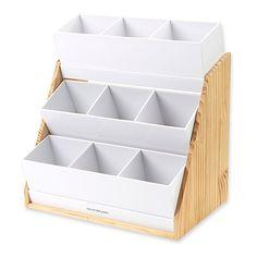 Mind Reader Mind Reader 9 Compartment Condiment Organizer with Acrylic Drawers and Wood Base Acrylic Drawer Organizer, Cardboard Organizer, Wine Gift Baskets, Basket Gift, Ideas Para Organizar, Drawer Organisers, Break Room, Craft Storage, Storage Cubes