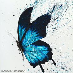 Butterfly Dreams Limited Edition Art Print By Ashvin Harrison Butterfly Drawing, Butterfly Painting, Butterfly Watercolor, Watercolor Paintings, Butterfly Artwork, Drawings Of Butterflies, Blue Butterfly Tattoo, Blue Butterfly Wallpaper, Butterfly Gifts
