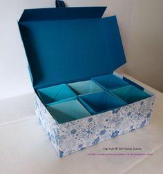 Scatola di carta con scomparti a cubi