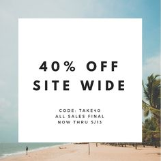 stock up for summer with off site wide! Code: All sales final All Sale, Finals, Coding, Lettering, Store, Bikinis, Summer, Instagram, Calligraphy