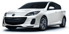 white mazda 3 hatchback ... Also in graphite mica and silver that look nice