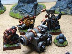 Warhammer Dwarf Cannon Warhammer Dwarfs, Warhammer 40k, Warhammer Fantasy, Cannon, Workshop, Castle, Painting, Miniatures, Dwarf