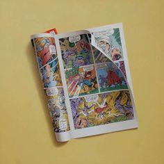 by Sharon Moody #comics #trompeloeil #painting #vintage #retro