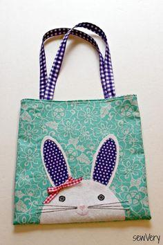 (9) Name: 'Sewing : Bunny Face Bag