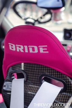 Pink Bride bucket seats I think I just died