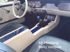 66 ford mustang center console Custom Car Interior, Truck Interior, Custom Chevy Trucks, Custom Cars, 66 Ford Mustang, Mustang Interior, Custom Center Console, Automotive Upholstery, Car Console