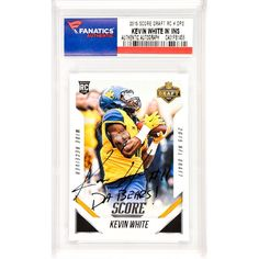 Kevin White West Virginia Mountaineers Fanatics Authentic Autographed 2015 Score Draft Day Rookie #DP2 Card With Da Bears! Inscription