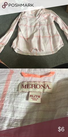 Plaid women's shirt XL plaid shirt. I have NEVER worn it and it is in excellent condition!!! Merona Tops Button Down Shirts
