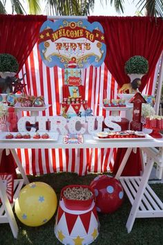 Vintage circus birthday party | Catchmyparty.com