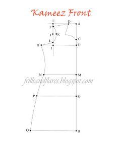 Draft a kameez - - *many* brilliant draft tutorials at this site! - Draft a kameez – – *many* brilliant draft tutorials at this site! Draft a kameez – – *many* - Pattern Drafting Tutorials, Sewing Patterns Free, Clothing Patterns, Sewing Tutorials, Sewing Projects, Kurti Patterns, Dress Patterns, Coat Patterns, Couture
