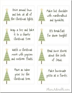 Free Printables – 24 Advent Calendar Ideas to do with your family.