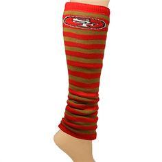 San Francisco 49ers Ladies Team Stripes Leg Warmers - Scarlet/Gold
