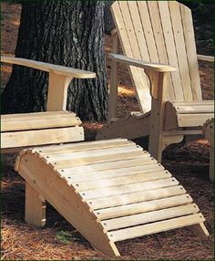 "Classic Adirondack Footrest -  Northern White Cedar footrest. A companion to the Classic Adirondack Chair, together they promise hours of restful comfort.  13"" H, 22"" W, 24"" D."