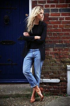jeans and blue blazer women - Google Search