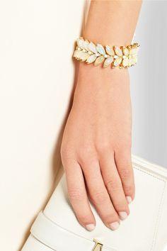 Stephen Webster|Magnipheasant 18-karat gold, diamond and opal bracelet|NET-A-PORTER.COM