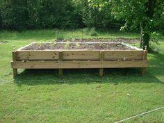 diy raised bed pallet garden