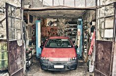 Dirty garage