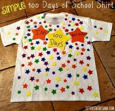 Simple 100 Days of School Shirt – Letters In The Sand The Ultimate Pinterest Party, Week 84