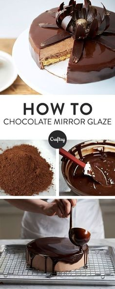 Who doesn't love chocolate cake? Learn how to make your own mirror glaze chocolate cake with this free recipe. Who doesn't love chocolate cake? Learn how to make your own mirror glaze chocolate cake with this free recipe. Beaux Desserts, Just Desserts, Dessert Recipes, Small Desserts, Easter Desserts, Cupcake Recipes, Lunch Recipes, Free Recipes, Cookie Recipes