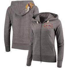 def60ce2 Minnesota Vikings Touch by Alyssa Milano Women's Maverick Full-Zip  Tri-Blend Hoodie -