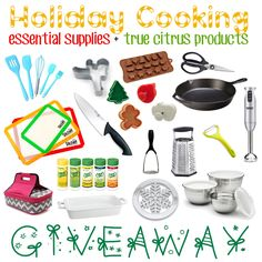 Enter for your chance to win $400 worth of Holiday Baking Essentials and a bunch of True Citrus Products!