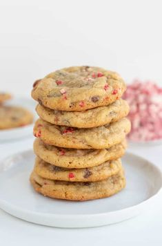 These Peppermint Chocolate Chip Cookies are packed full of Andes Peppermint Baking Bits and milk chocolate chips. They're so soft and chewy and have delicious pops of peppermint and chocolate… More