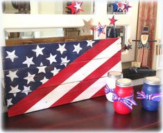 American Flag Pallet Sign Rustic Americana by LollysCubbyHole