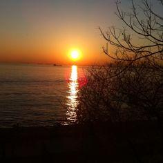 Beatiful sunset at Istanbul!