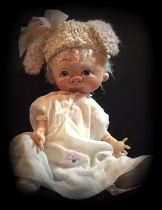 Mary Had a Little Lamb  One of a kind by doll artist  Jan Shackelford